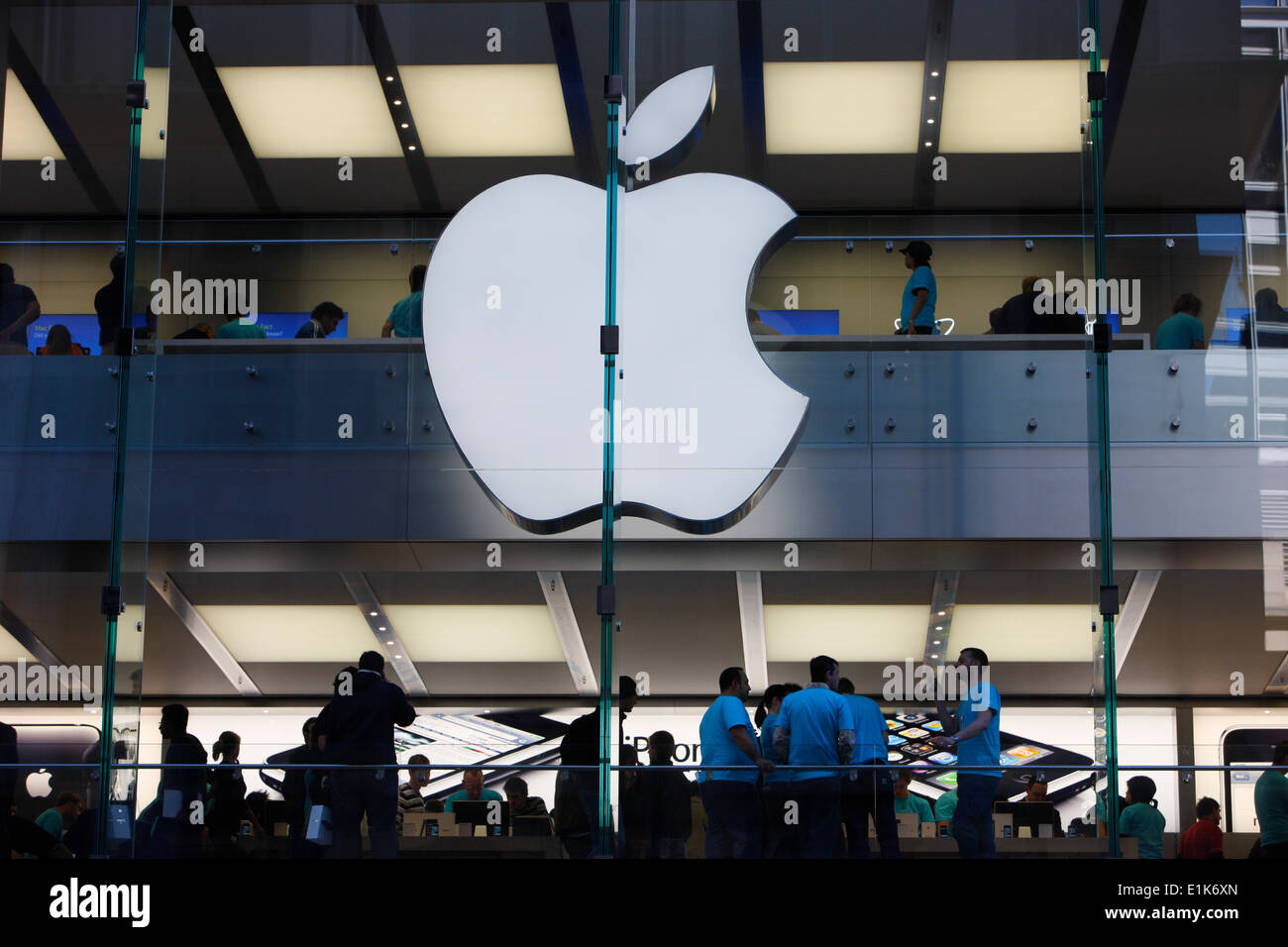Apple store. Sydney. Stock Photo