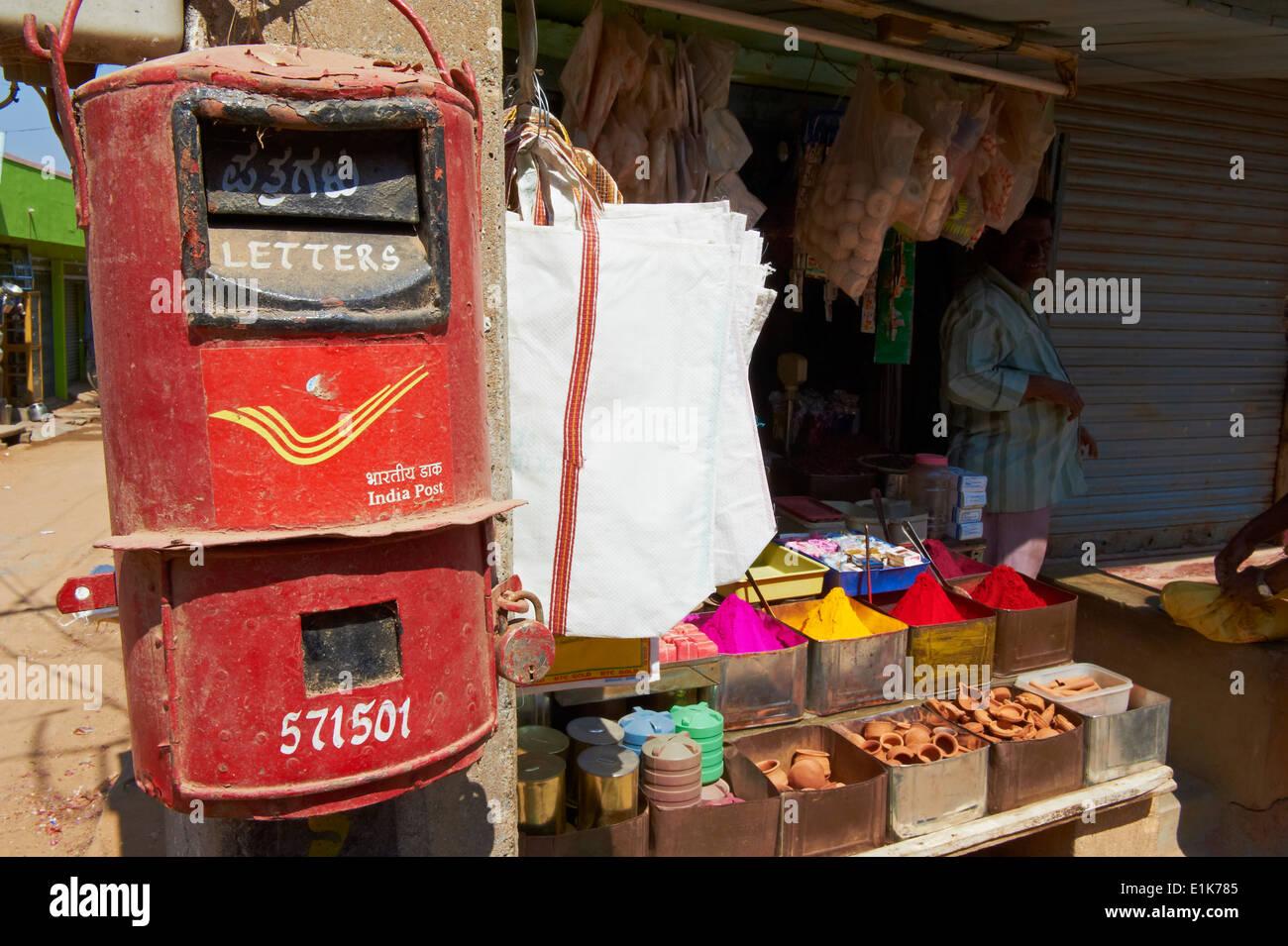 India, Karnataka Mysore Devaraja market letter box - Stock Image