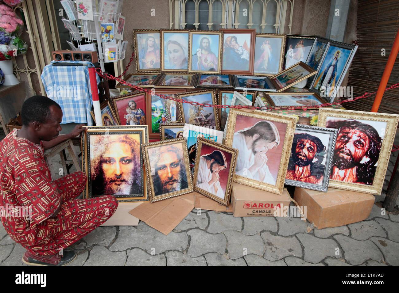 Religious shop - Stock Image