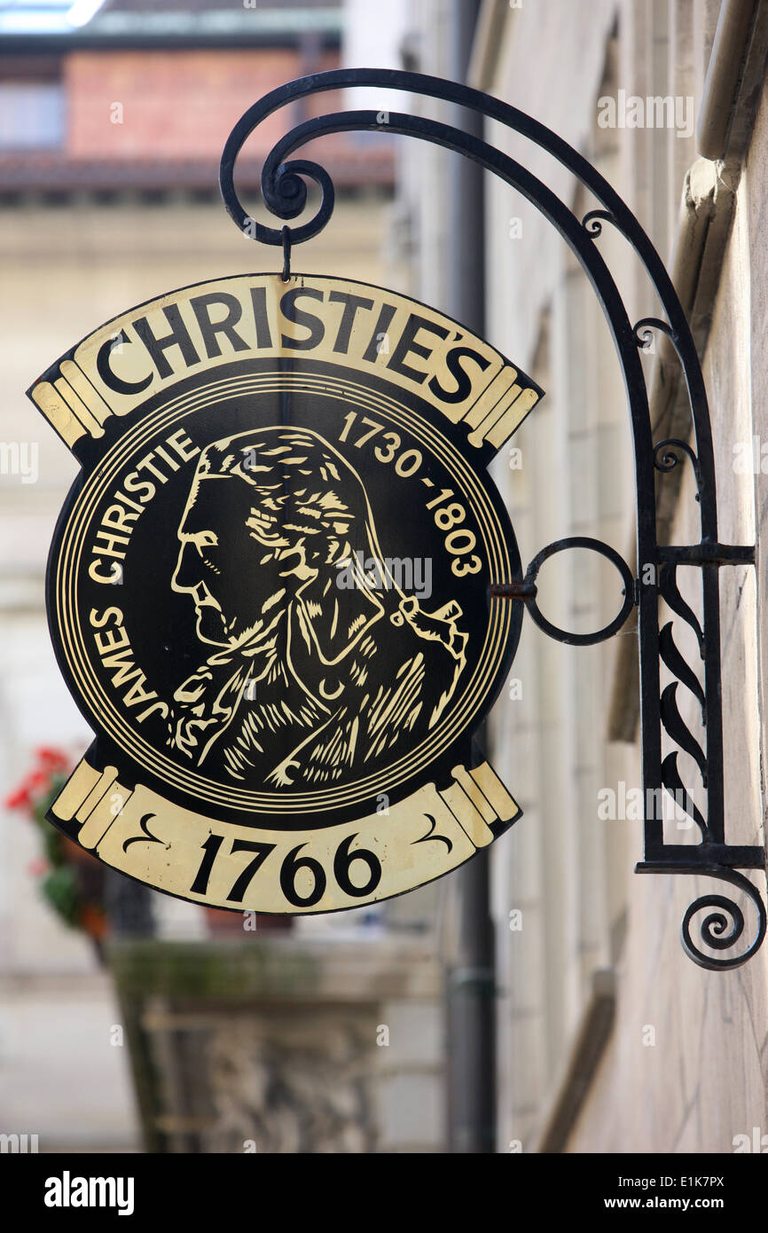 Christie's sign - Stock Image