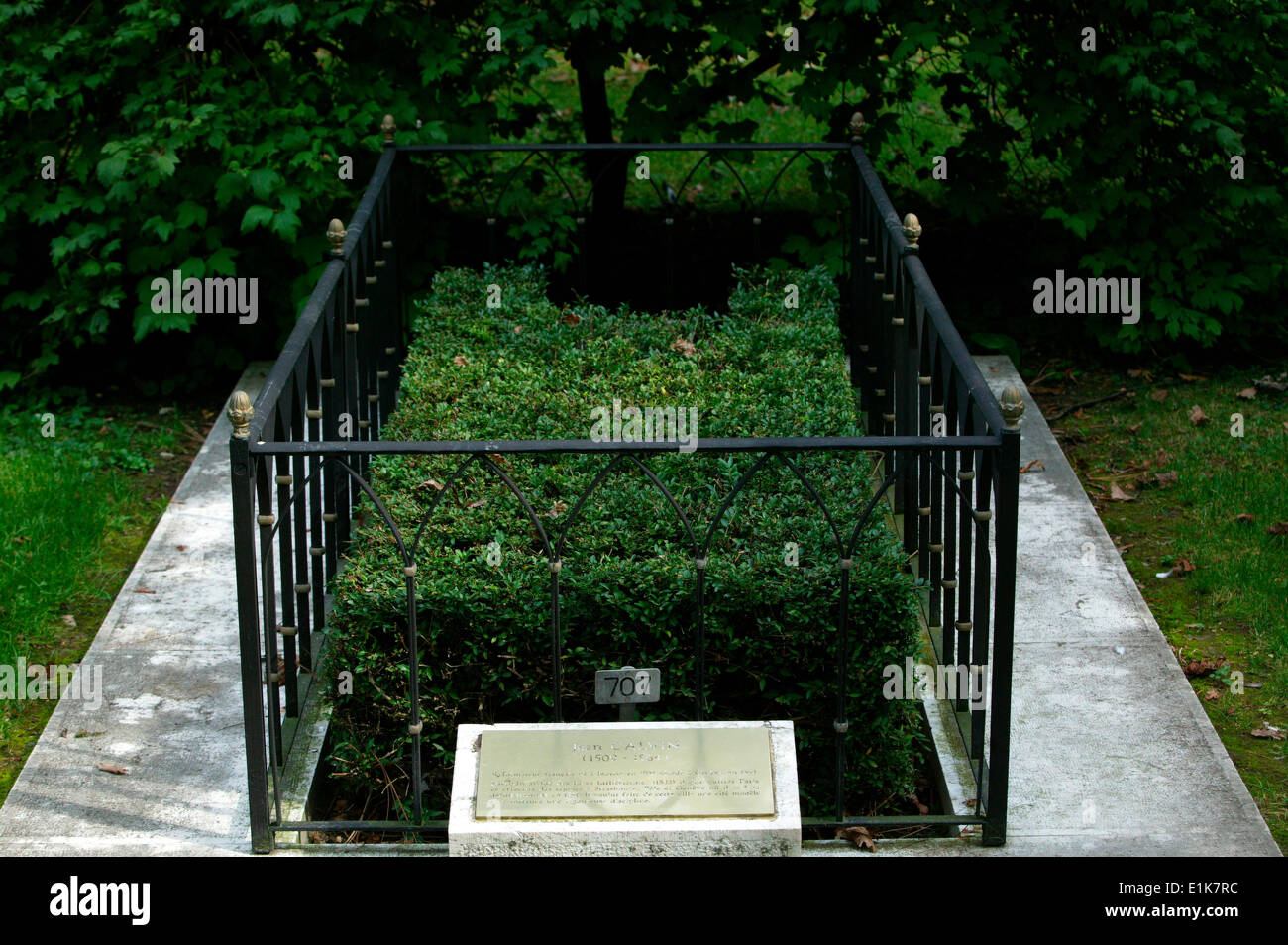 John Calvin's grave.  French reformer and theologian - Stock Image