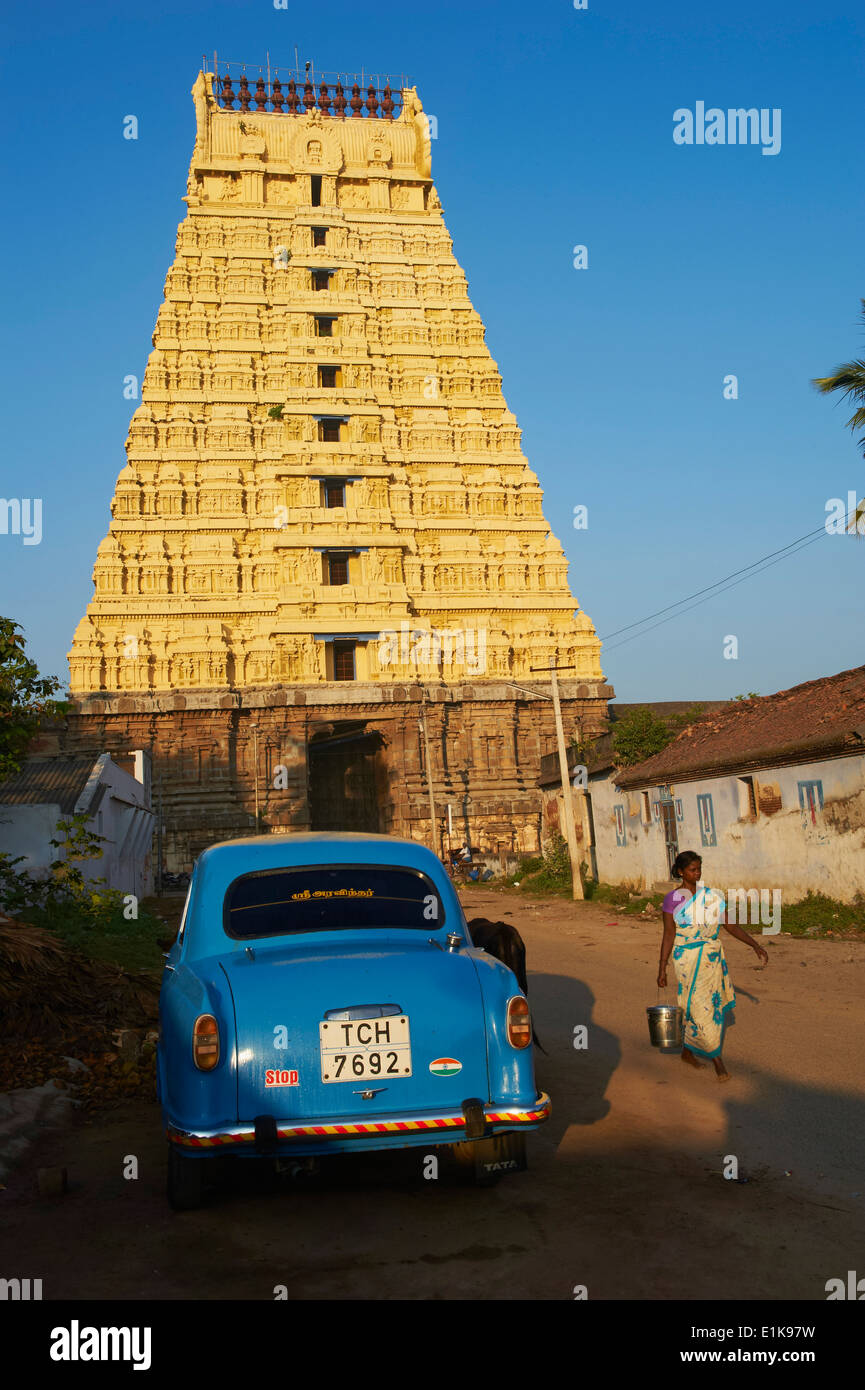 India, Tamil Nadu, Kanchipuram, Devarajaswami temple Stock Photo