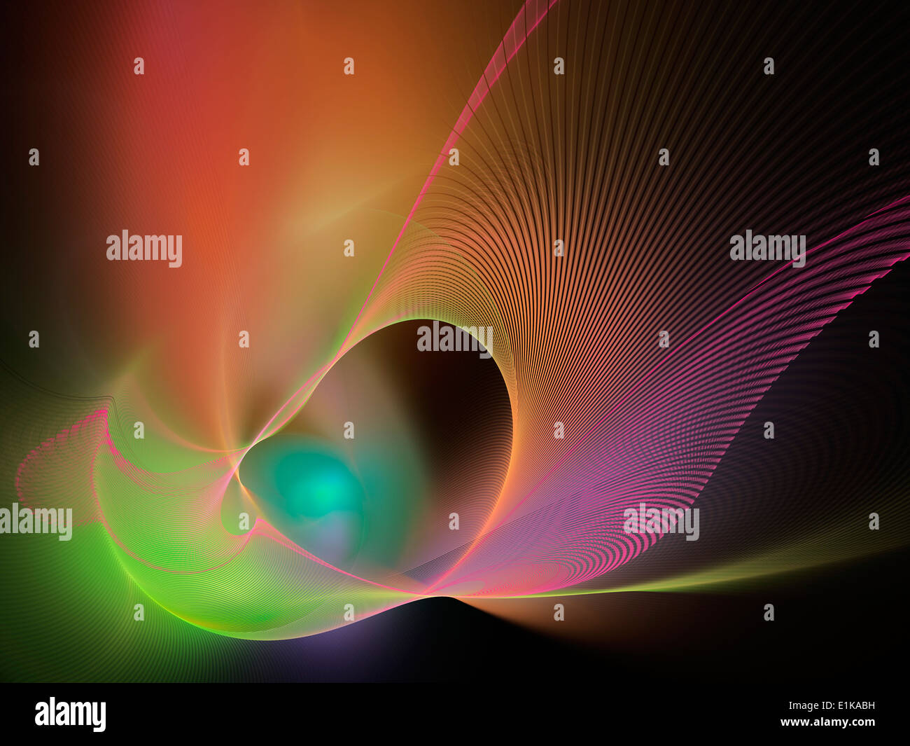 Superstrings conceptual computer artwork The superstring theory is a Theory of Everything (Grand Unification Theory) which - Stock Image