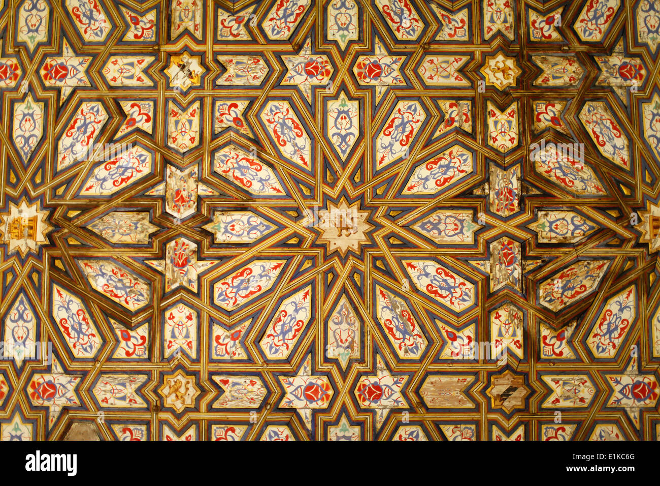 Real Alcazar de Sevilla - Infants' room ceiling decoration - Stock Image