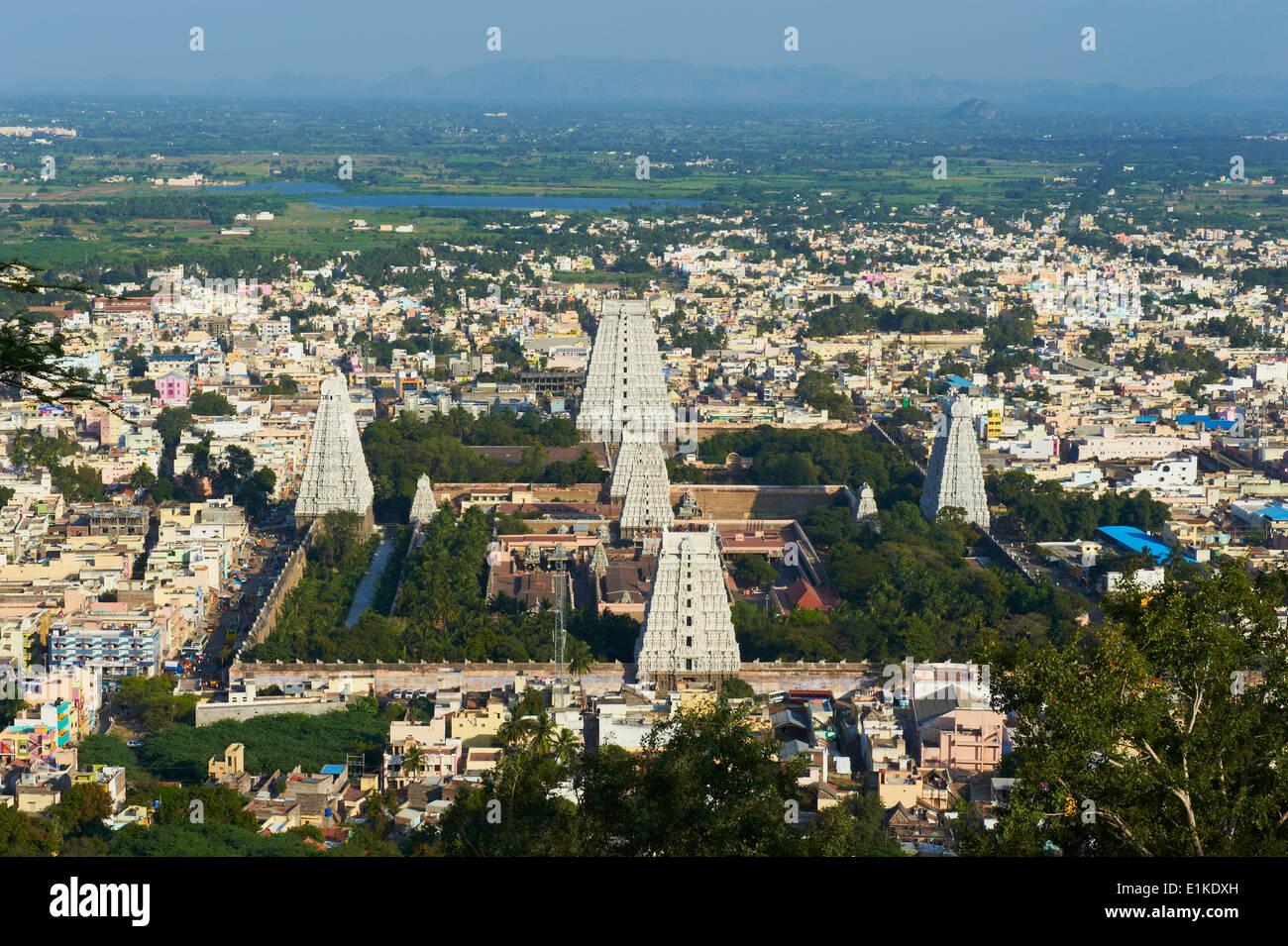India, Tamil Nadu, Tiruvannamalai, Arunachaleswar temple - Stock Image
