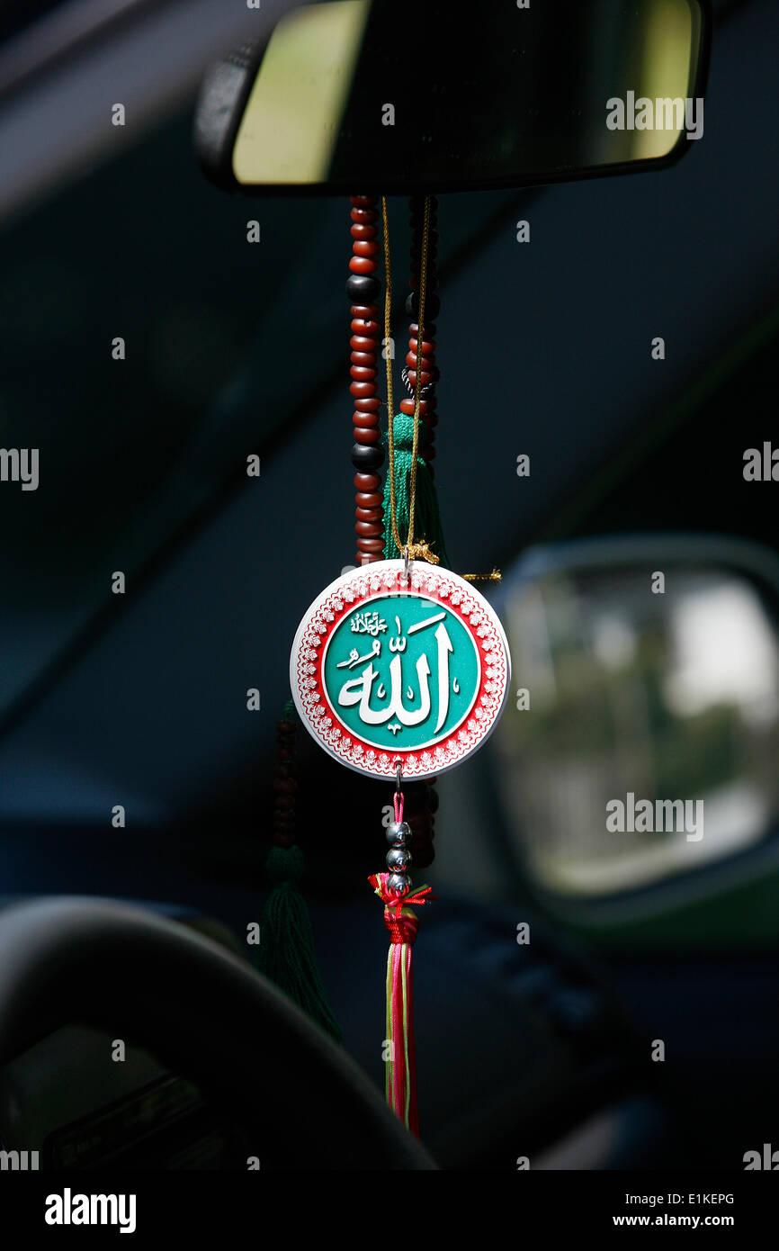 Muslim Symbols In A Car Stock Photo 69884824 Alamy