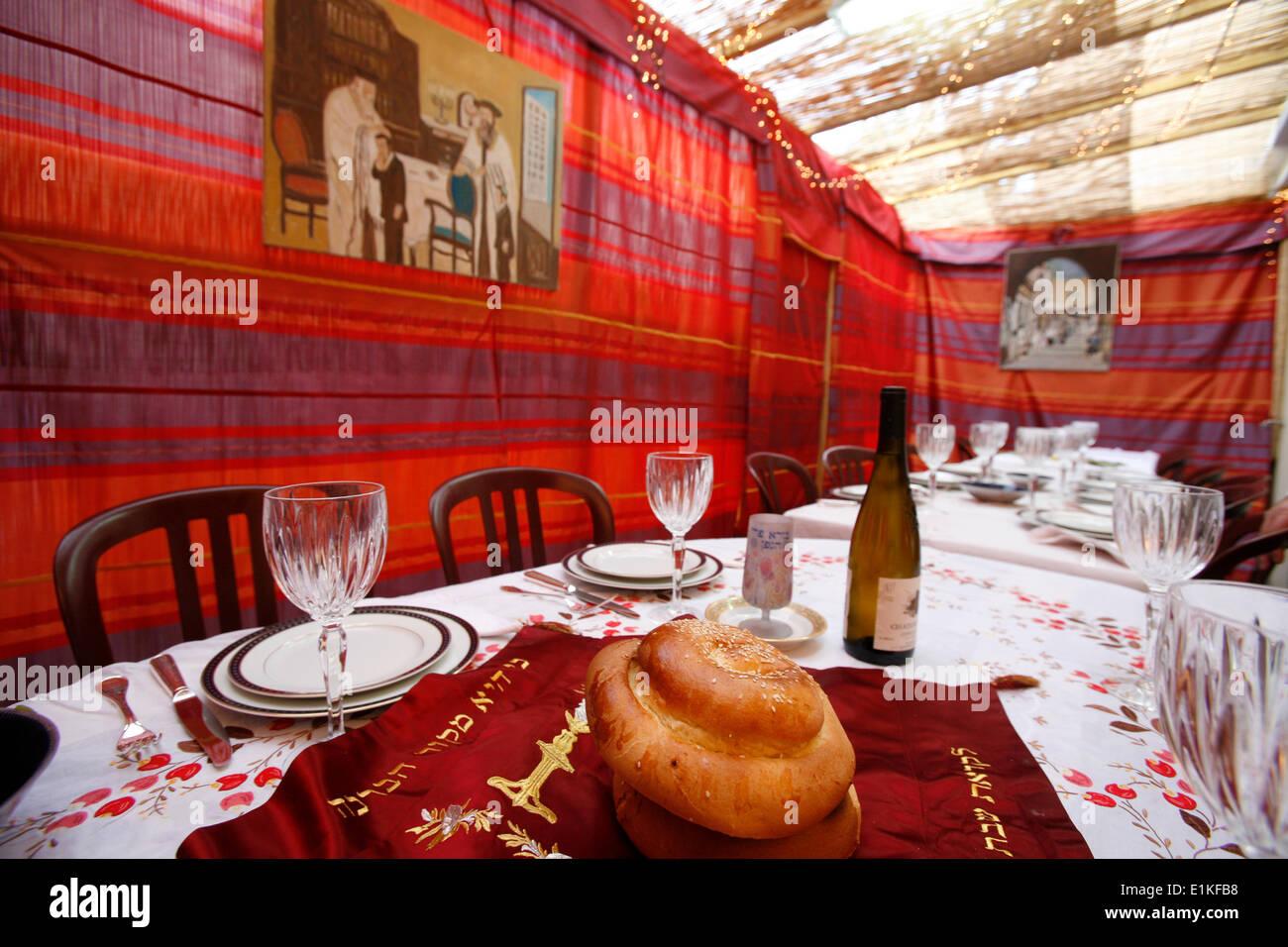 Jewish sukkot celebration. - Stock Image