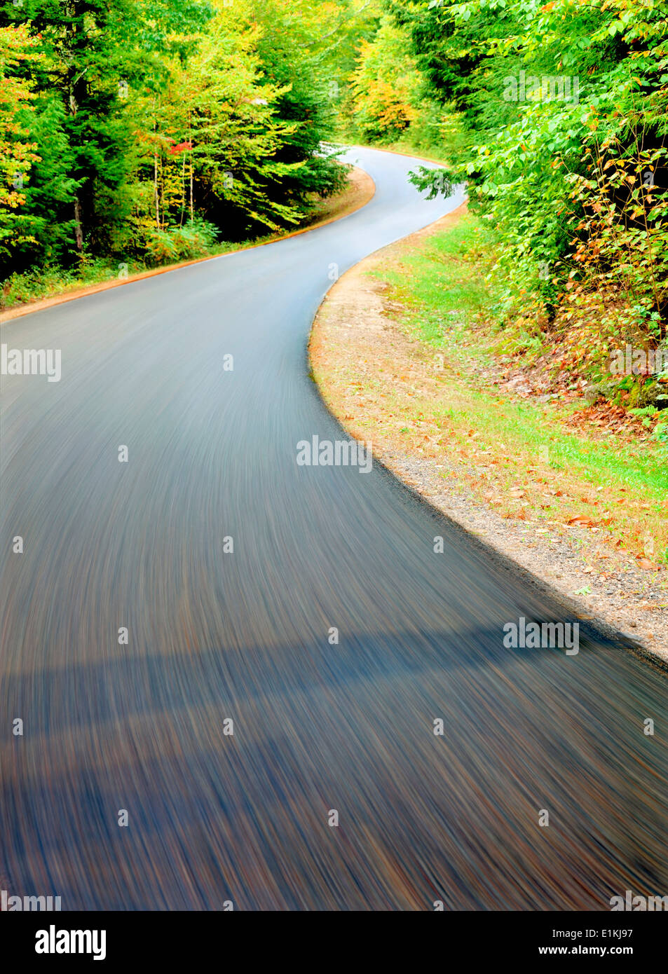 Road blurred motion. - Stock Image