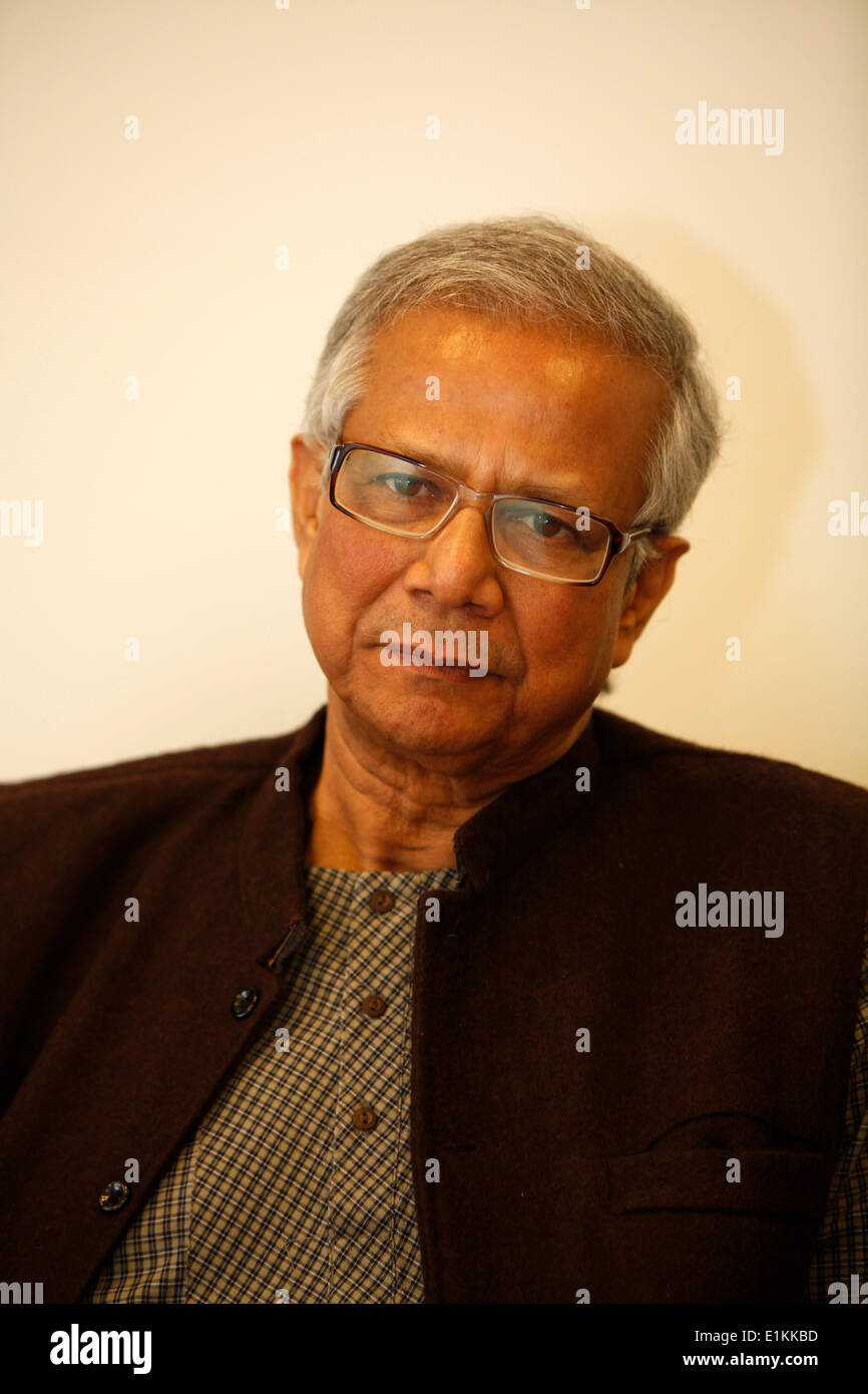 Nobel Prize winner Muhammad Yunus, who founded the Grameen Bank - Stock Image