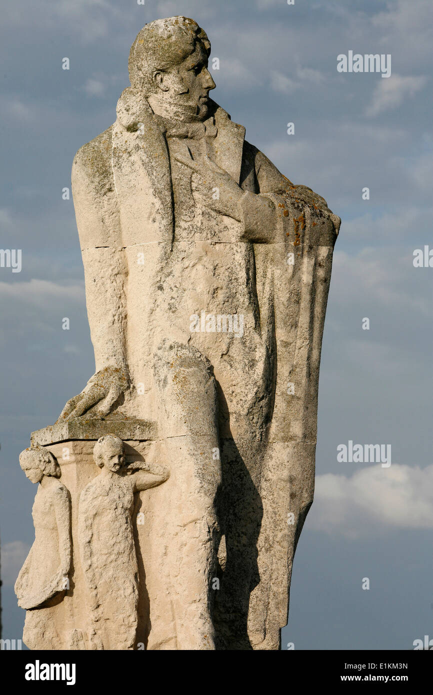 Statue of Franois-RenŽ de Chateaubriand (1768-1848) - Stock Image