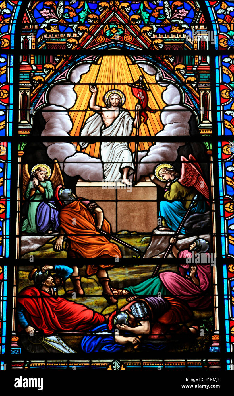 Image result for jesus resurrection stained glass