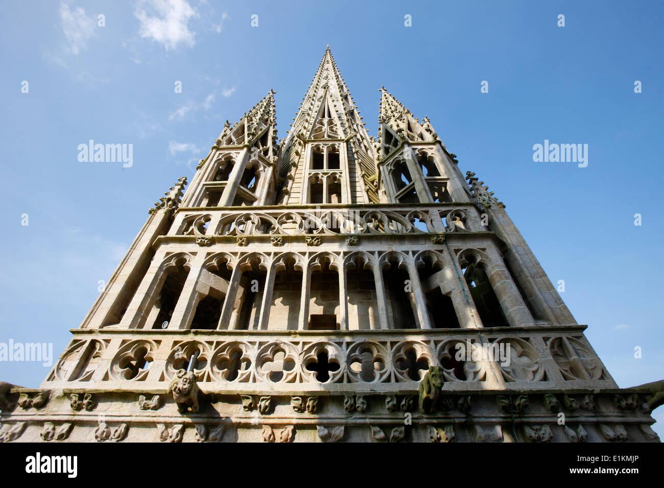 Saint-Corentin cathedral squire, Quimper - Stock Image