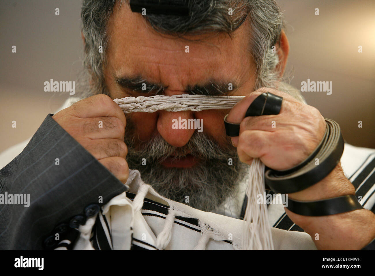 Praying Jew - Stock Image