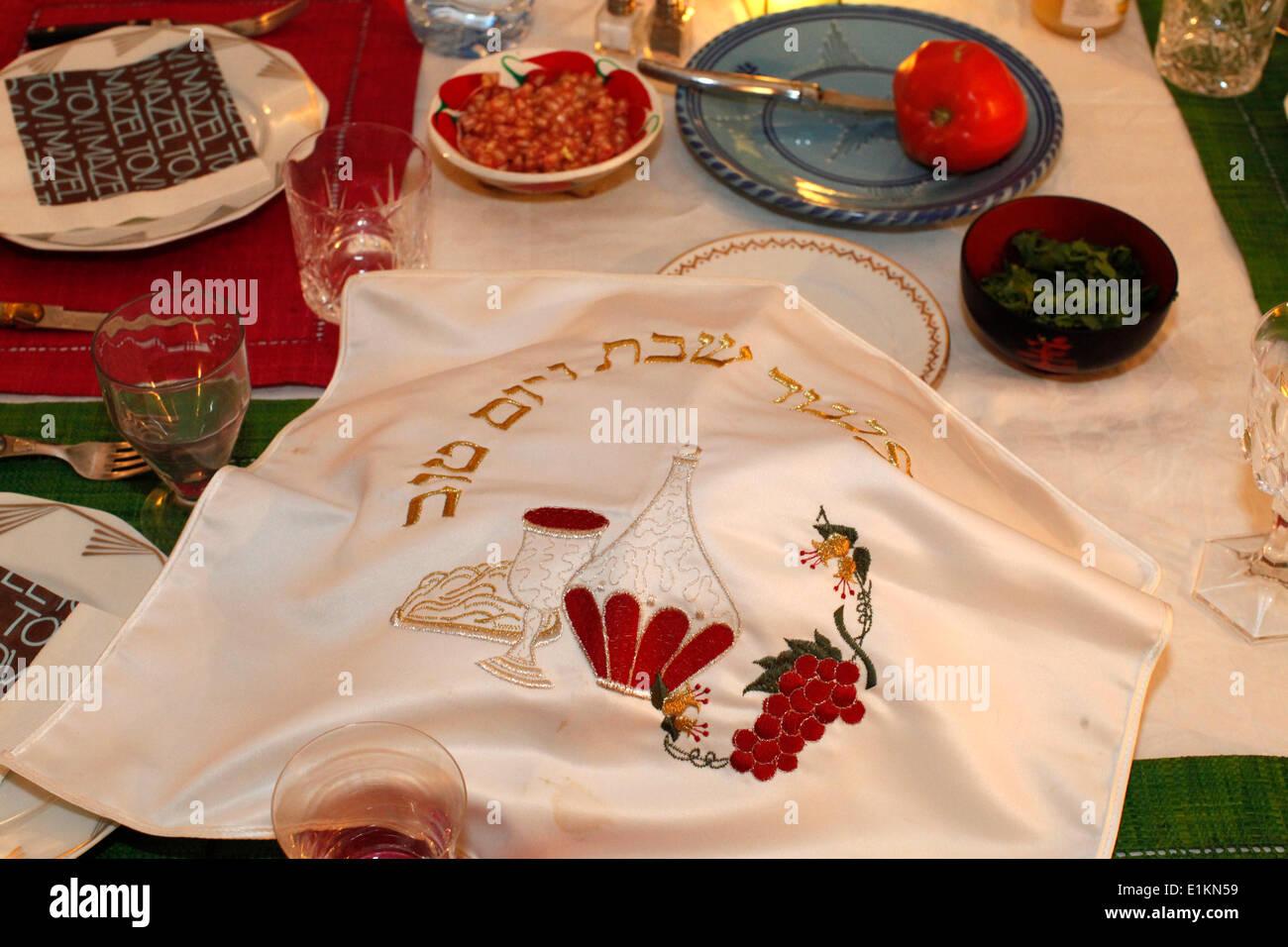 Seder de Rosh Hashana - Stock Image