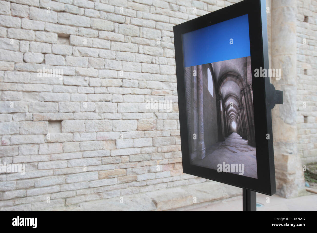 Cluny Abbey.  Multimedia screen. - Stock Image