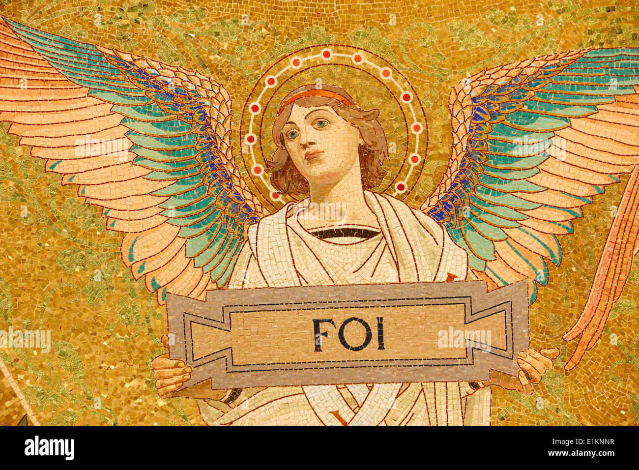 Pasteur Institute crypt : science angel by A. Guillebert-Martin - Stock Image