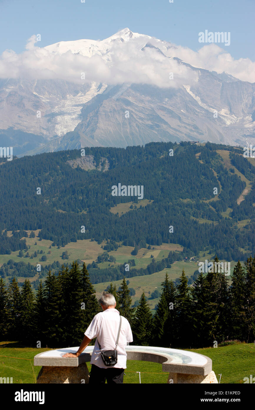 Mont Blanc viewpoint indicator - Stock Image