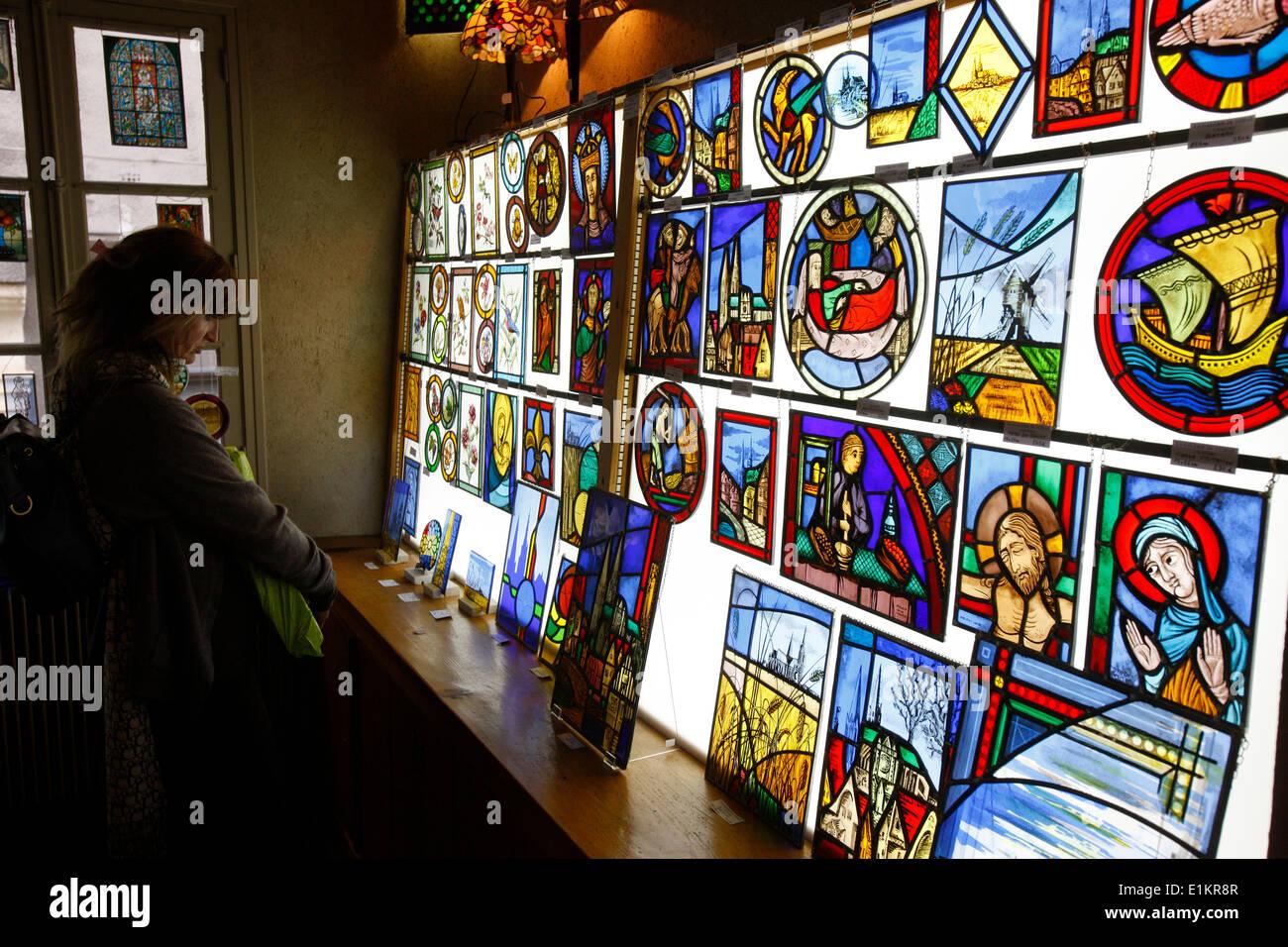 Religious shop. - Stock Image