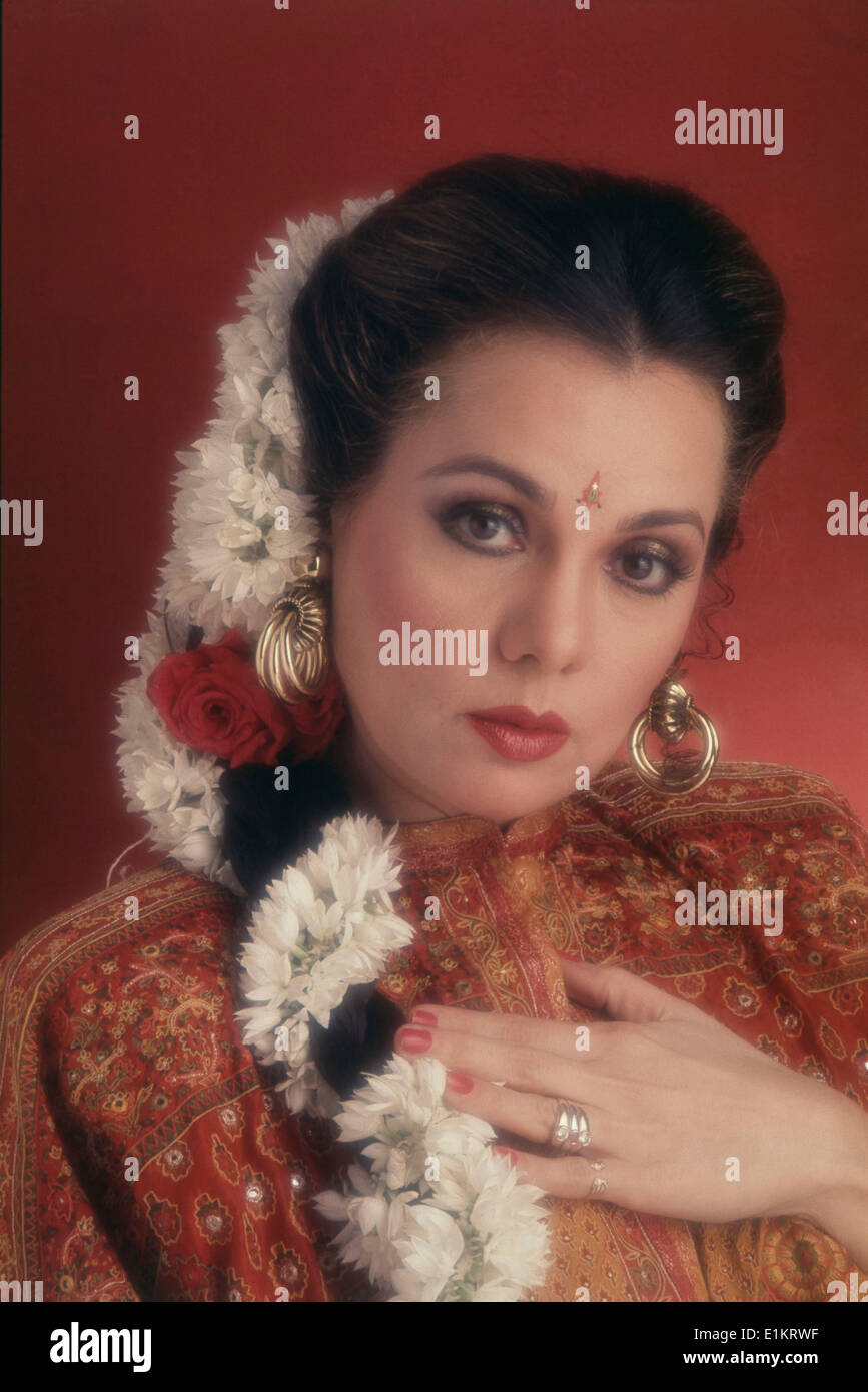 Portrait Of Mumtaz Indian Film Actress Stock Photo