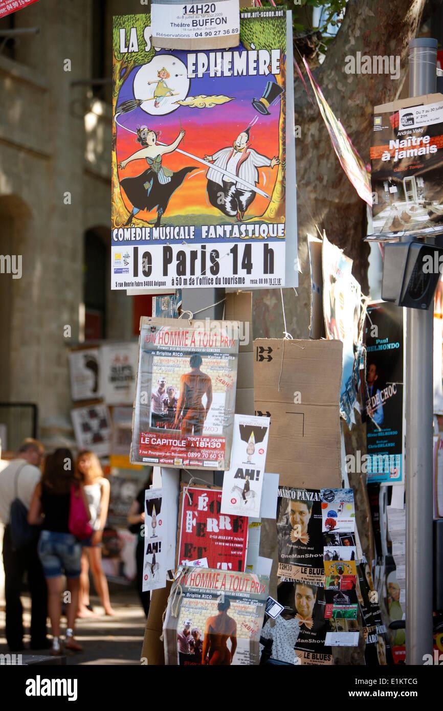 Summer drama festival in Avignon. - Stock Image