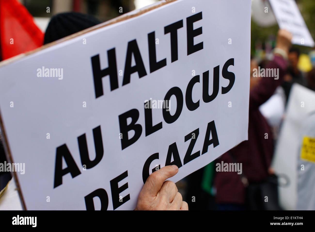 Demonstrator against the Gaza blocade - Stock Image