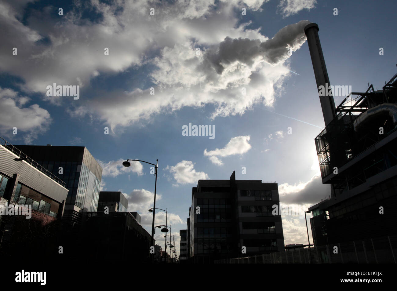 Scrap recycling plant - Stock Image
