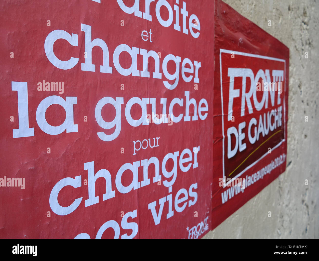 Left wing party propaganda - Stock Image