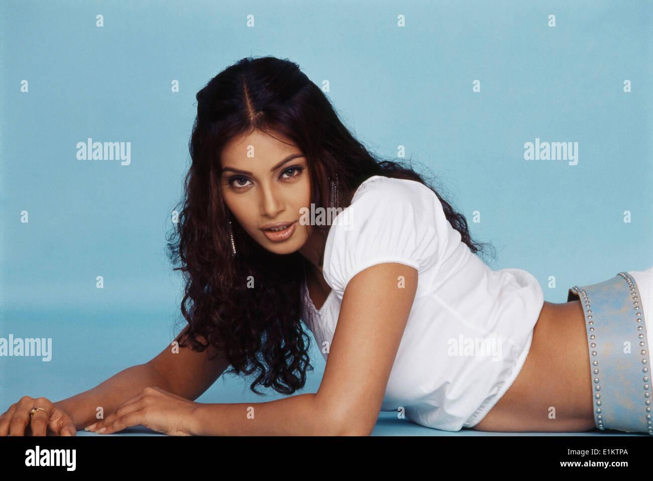 Portrait of Bipasha Basu Indian film actress - Stock Image