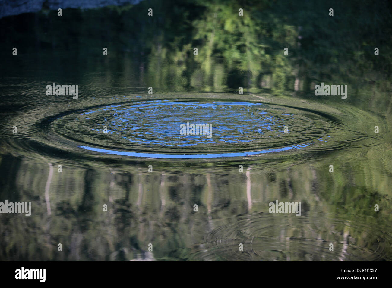 Ripples on a lake - Stock Image