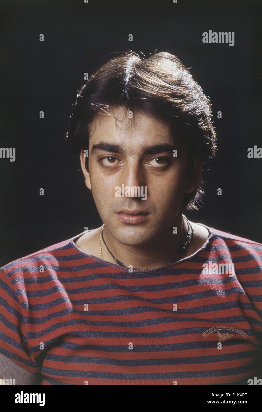 Portrait of Indian film actor Sanjay Dutt Stock Photo ...