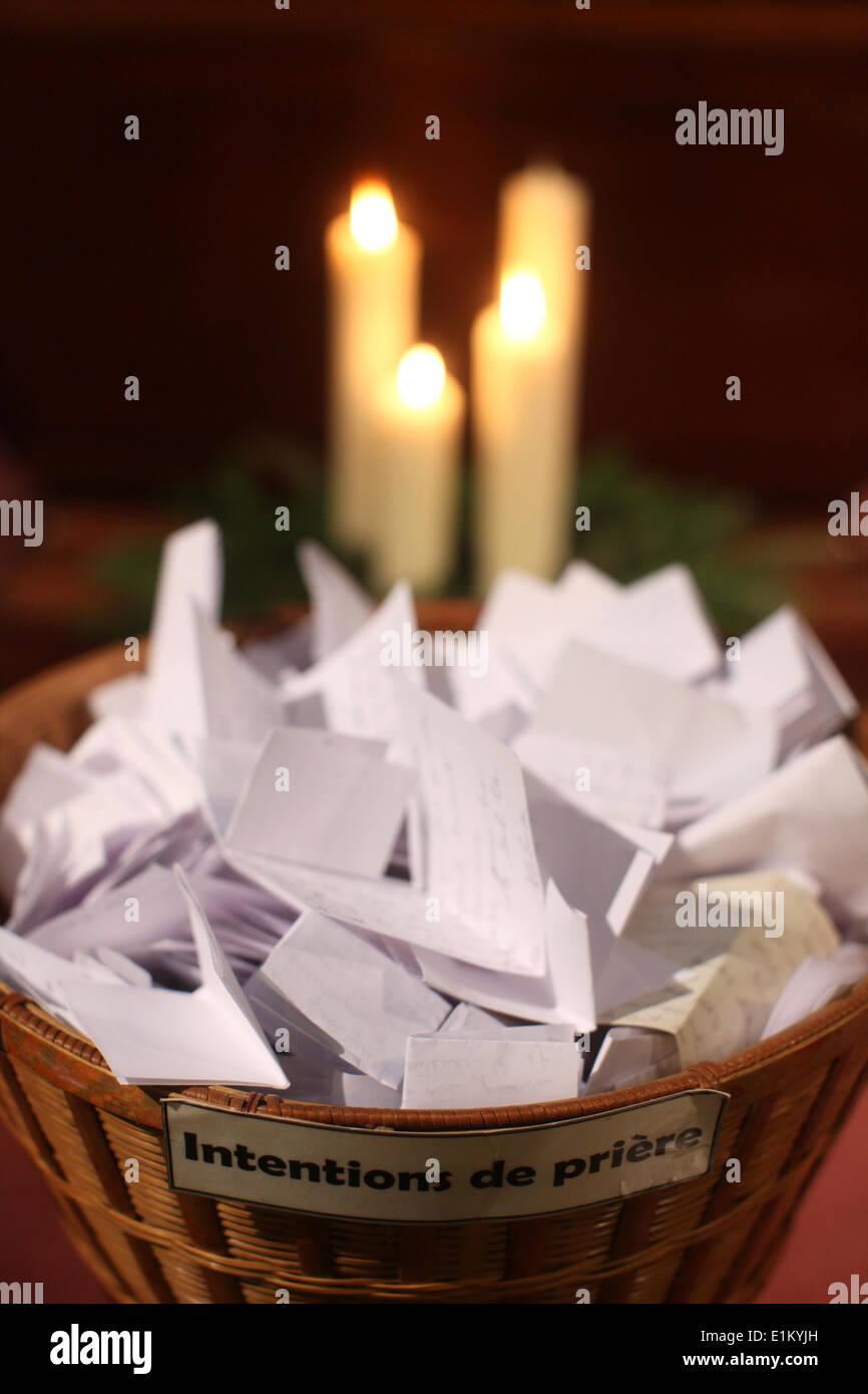 Written prayers - Stock Image