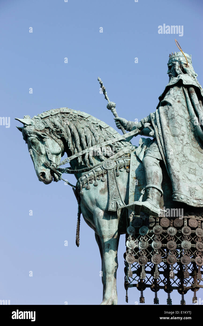 Detail of Saint Stephen of Hungary by Alajos Strobl - Stock Image