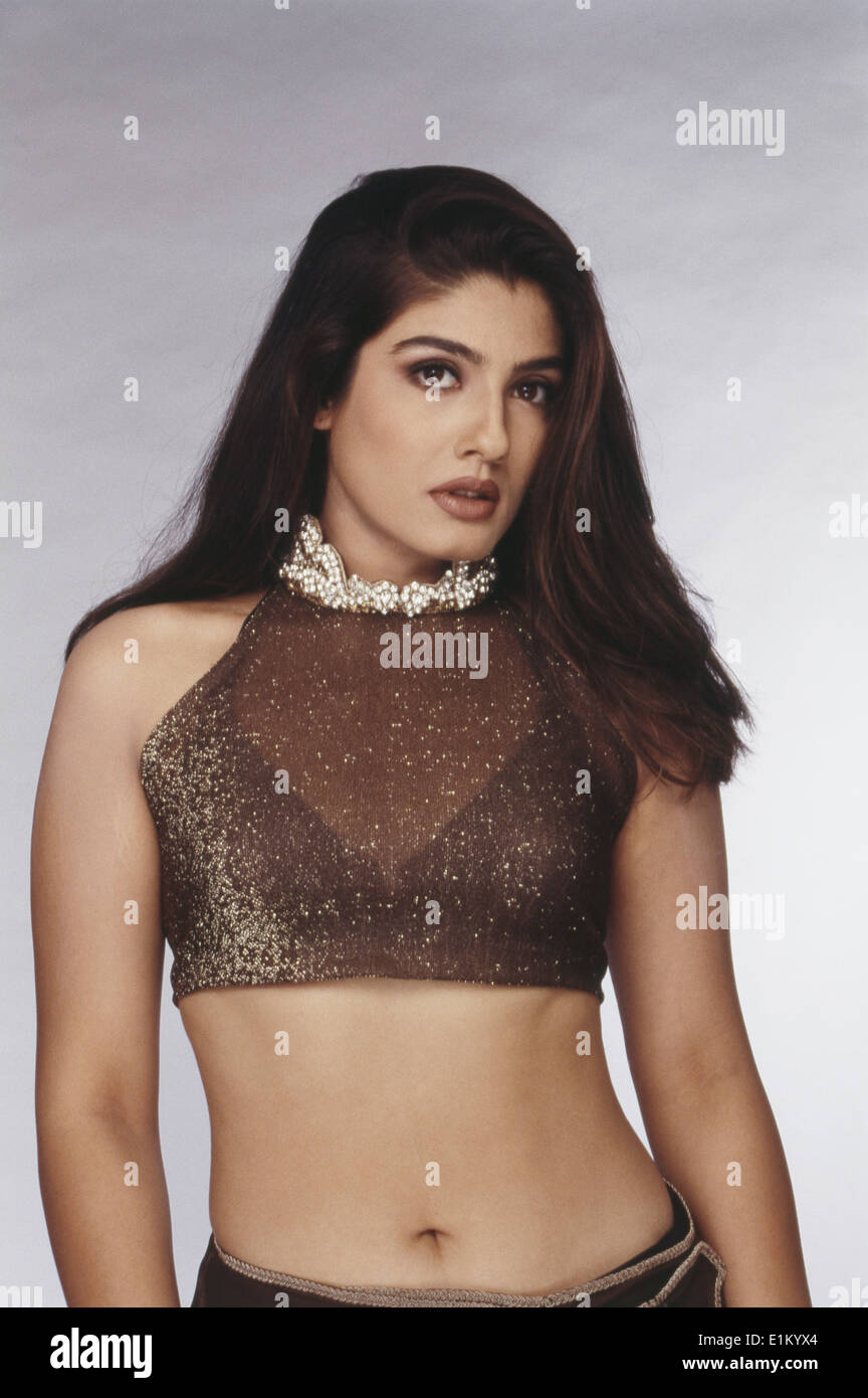 Portrait Of Indian Film Actress Raveena Tandon Stock Image