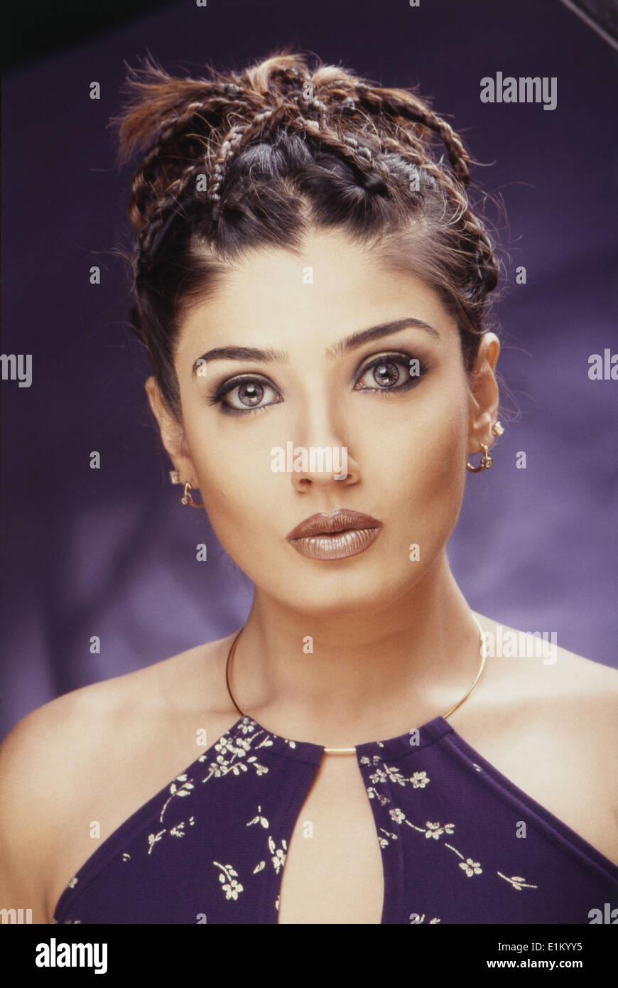 Raveena Tandon Indian Bollywood Hindi Movie Film Actress Stock Photo