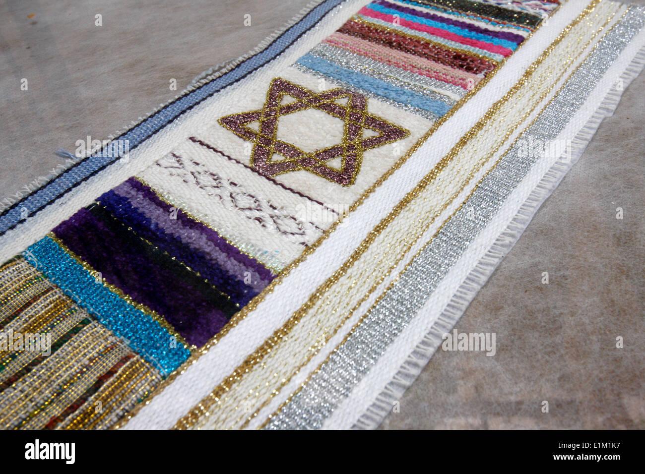 Jewish textile motif - Stock Image