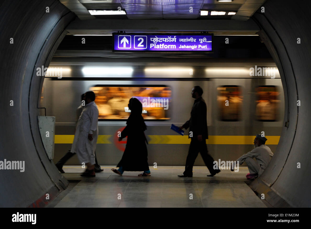 Delhi metro subway - Stock Image