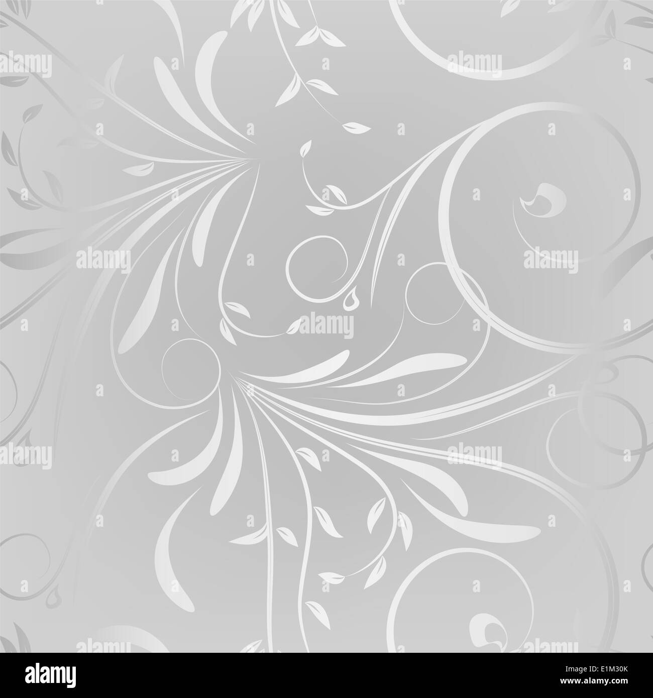 Silver Floral Wallpaper Stock Photo 69897539 Alamy
