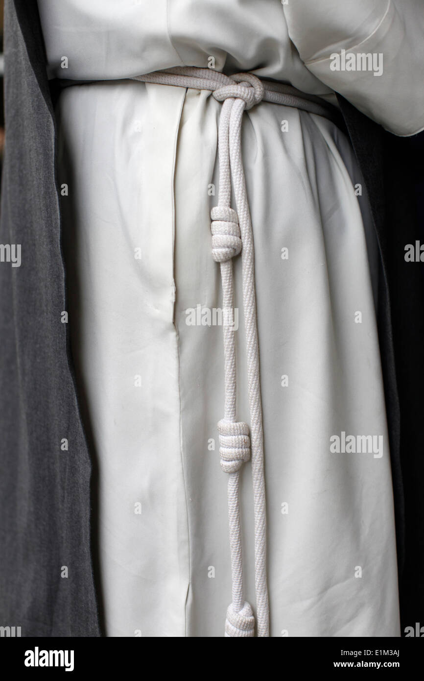 Monk's robe (Immaculate Conception congregation) - Stock Image