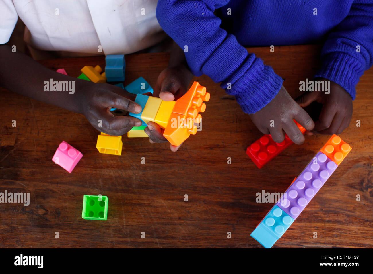 Kindergarten financed by a 25,000 KS loan from Opportunity microfinance - Stock Image