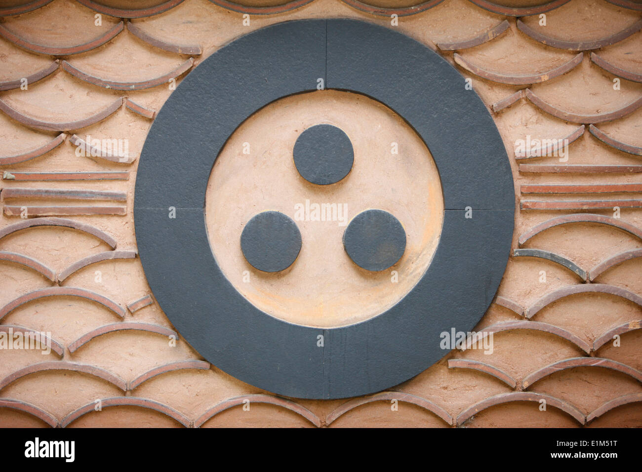 Buddhist Symbol One Circle And The 3 Jewels Of Buddhism The Stock