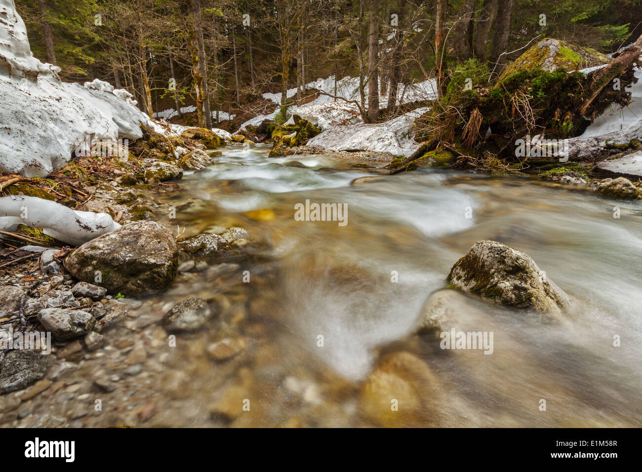 Cascade of Sibli-Wasserfall. Rottach-Egern, Bavaria, Germany Stock Photo