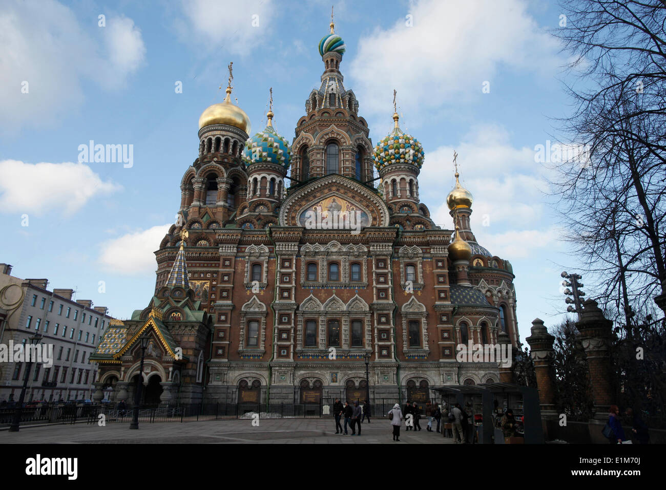 Church of the Saviour on Spilled Blood or Church of Resurrection. - Stock Image