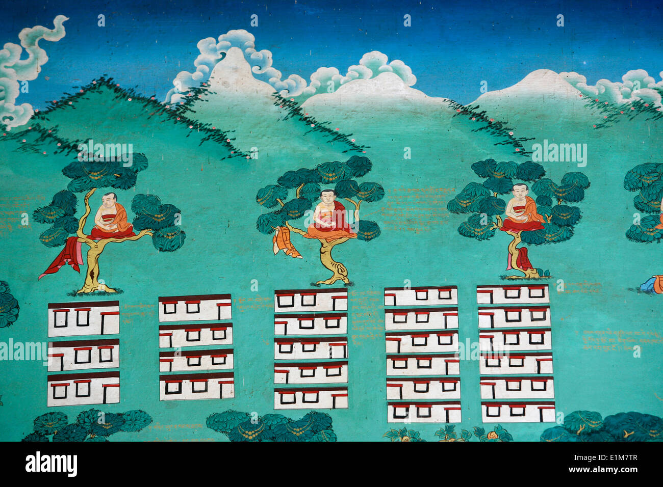 The Myth of Shangri La.  Kopan monastery. - Stock Image