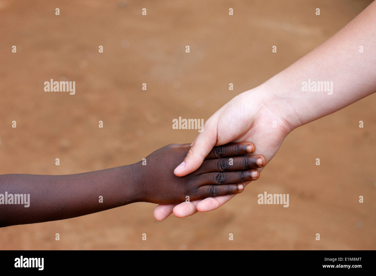 Interracial friendship - Stock Image