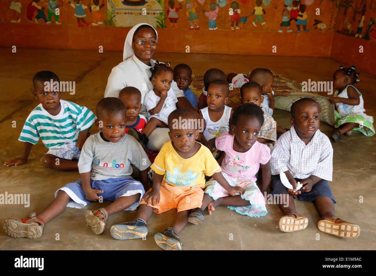 Kindergarten run by catholic nuns - Stock Image