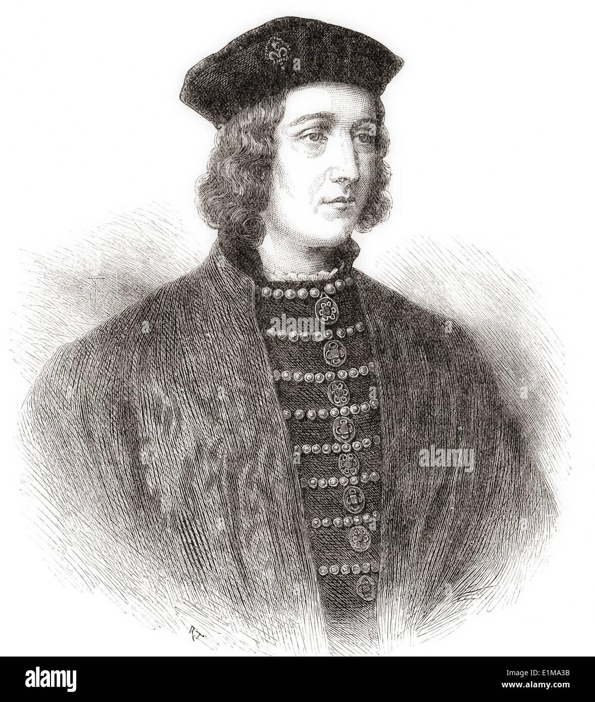 Edward IV, 1442 – 1483. King of England. - Stock Image