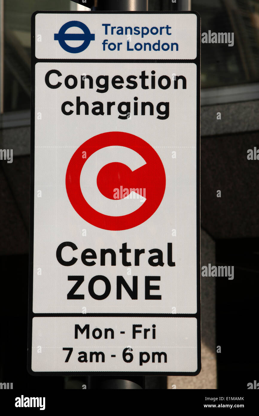 Congestion charging sign - Stock Image