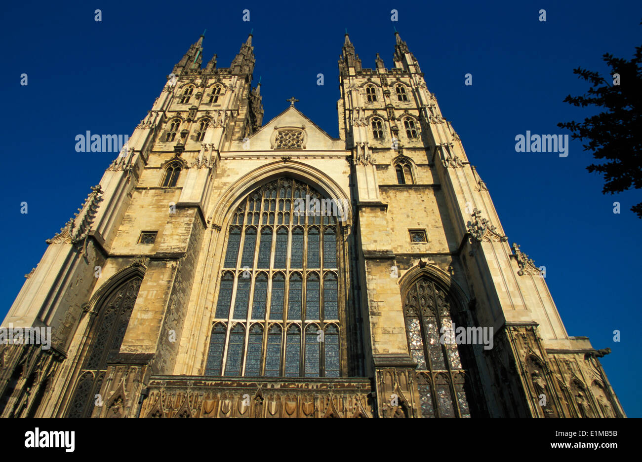 Canterbury cathedral western faade - Stock Image