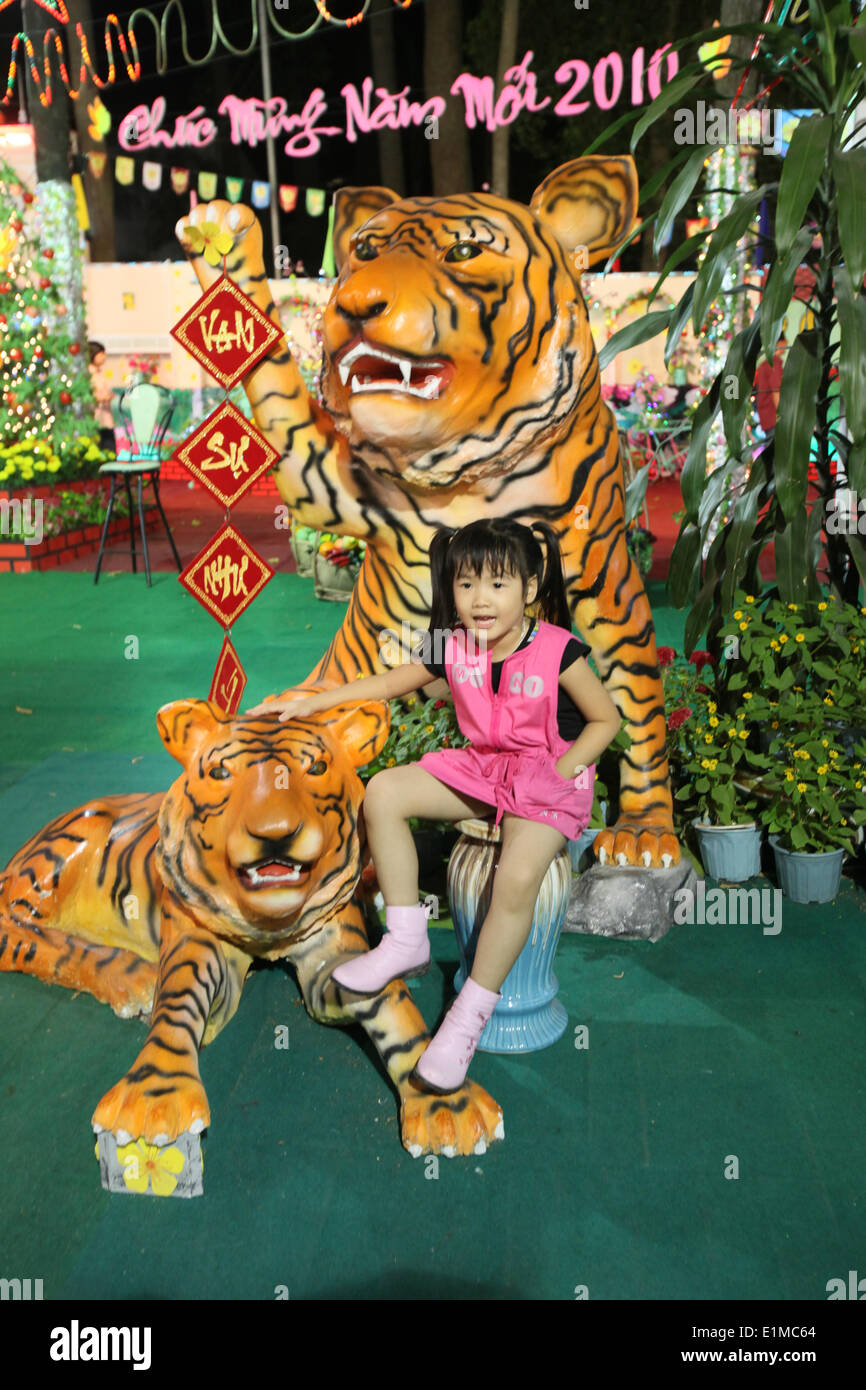 Chinese New Year 2010 welcomes the year of the tiger. - Stock Image