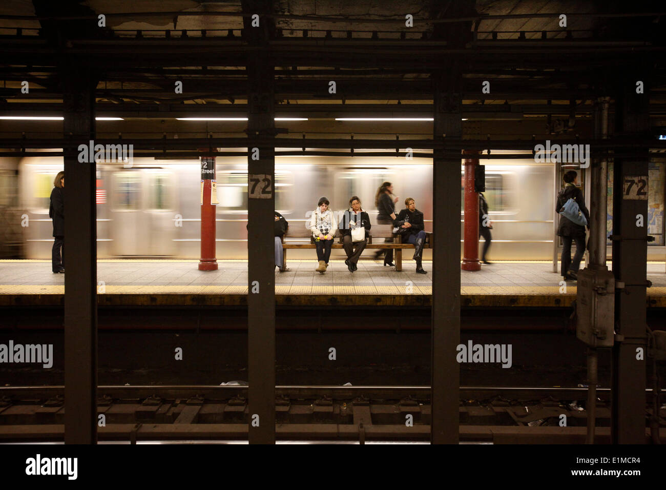 New York subway station - Stock Image